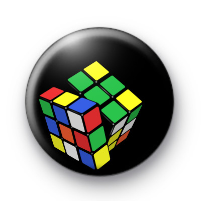 Rubiks Cube Button Badges
