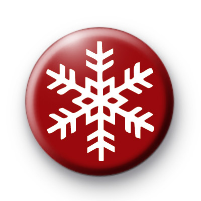 Ruby Red Festive Snowflake Badge