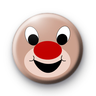 Rudolph Red Nose Face Badge