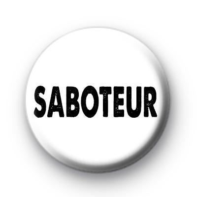 Saboteur Black & White Badge