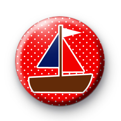 Sail Boat Button Badges