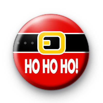 Santa Belly HO HO HO Badge