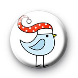 Festive blue bird badges