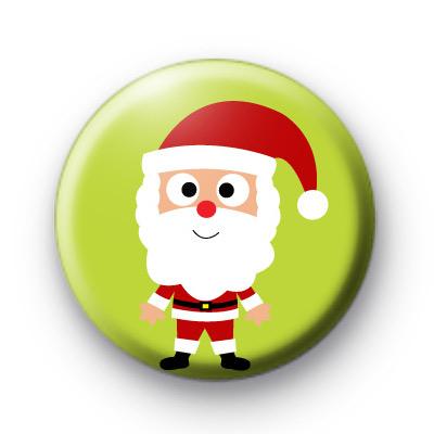 Santa Green Cute Christmas Badges
