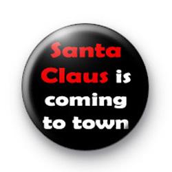 Santa Claus is coming badges