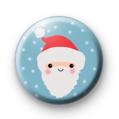 Santa Face Cute Button Badges