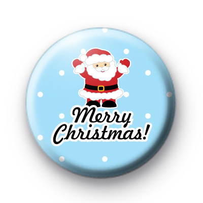Festive Santa Merry Christmas Badge