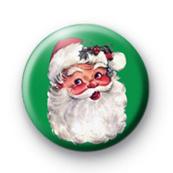 Santa Claus Green badges