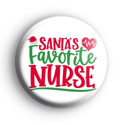 Santa's Favourite Nurse Badge