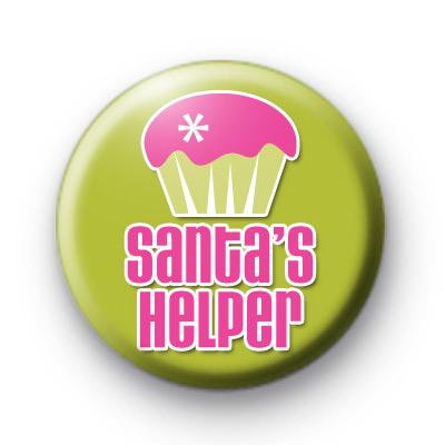 Santas Helper Cupcake Badge