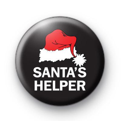 Santa's Helper Red Hat Badge