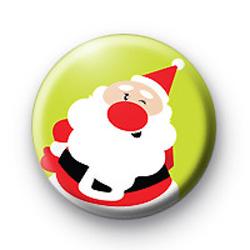 Santa Wink Button Badge