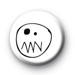 Scary Ghost Face Badge