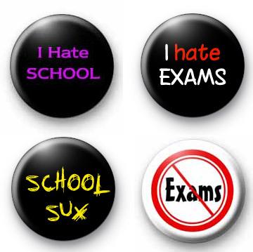Anti School set of 3 Badges