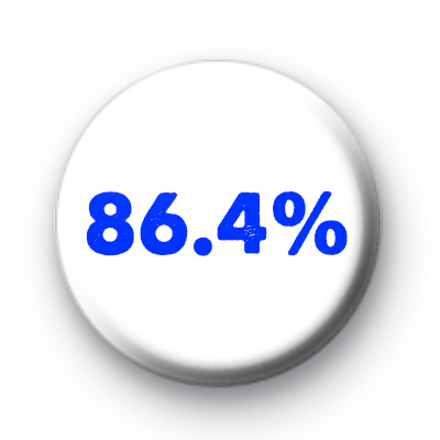 86.4 Percent Scotland Referendum Badges