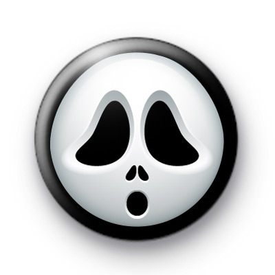 Scream Face Mask Hallowen Badges