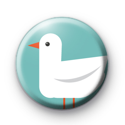 Seagull Button Badge