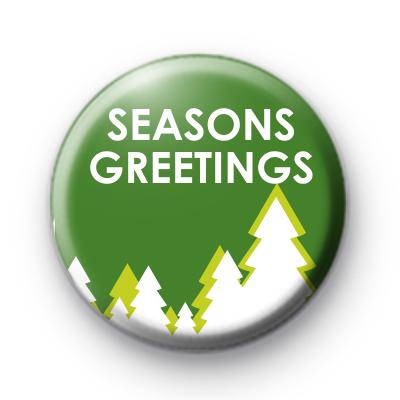 Green Seasons Greetings Badge