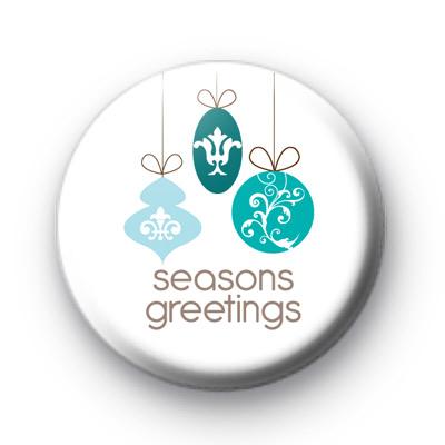 Seasons Greetings Baubles Badge