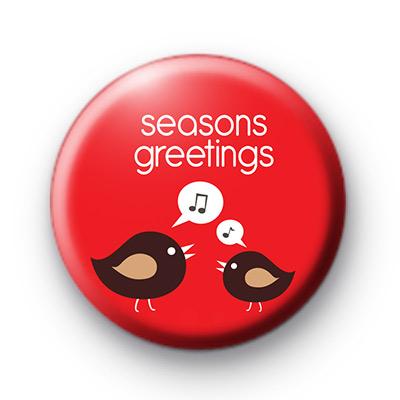 Seasons Greetings Tweet Birds badges