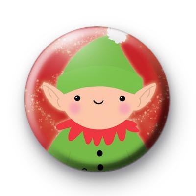 Cute Christmas Elf Button Badges