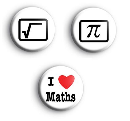 Set of 3 Maths Badges
