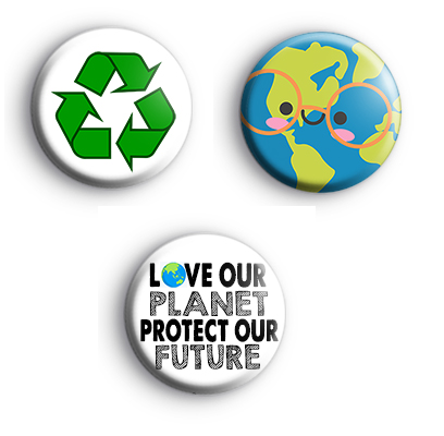Set of 3 ECO Recycling Badges