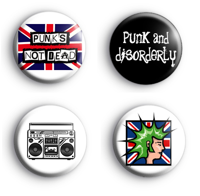 Set of 4 PUNK Badges