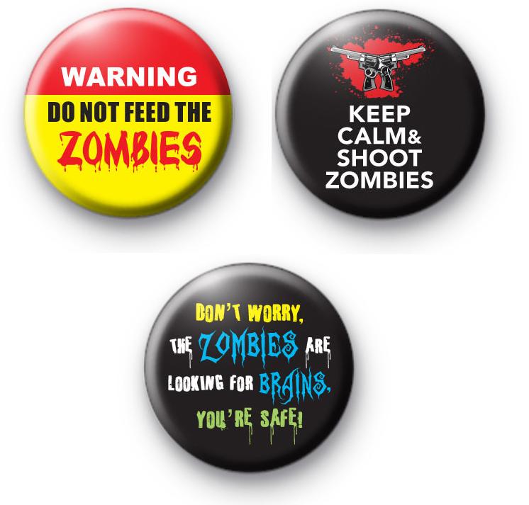 Set of 3 Zombie Badges