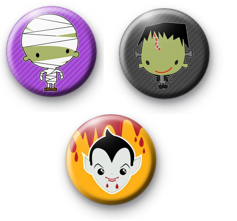 Set of 3 Creepy Halloween Characters