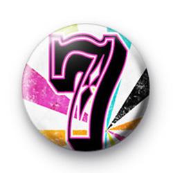 Number Seven 7 badges
