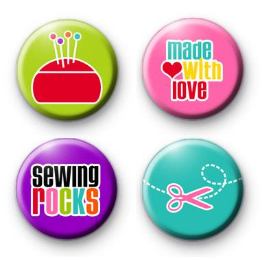 Set of 4 Crafty Sewing Badges