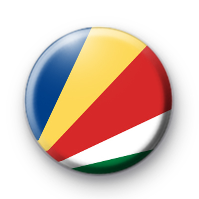 Seychelles National Flag Button Badge
