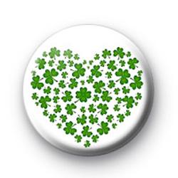 Shamrock Heart Badge