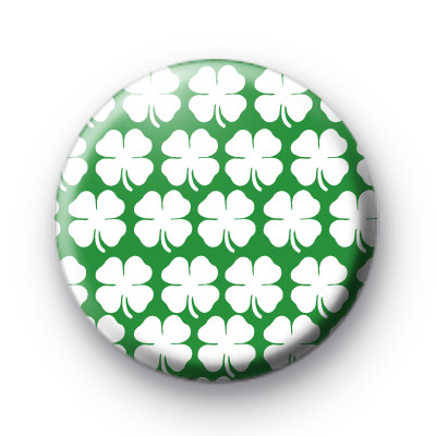 Shamrock Patten Button Badges