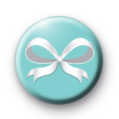 Silk Ribbon Bow Button Badges