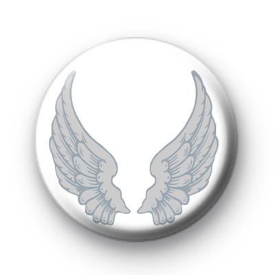 Silver Angel Wings Badge