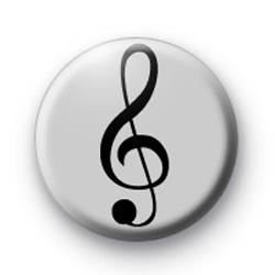 Silver Treble Clef Badge