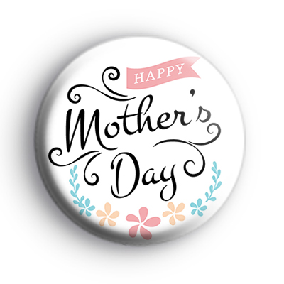Stylish and Modern Happy Mothers Day Badge