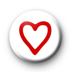 Simple Red Heart Badges