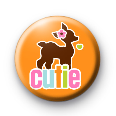 Simply Cutie Fawn Button Badge