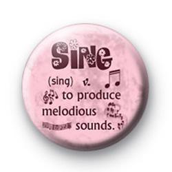 Sing definition badge