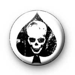 Skull Ace of Spades badges