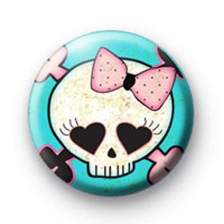 Punk Rock Skull Badge