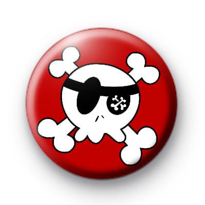 Red Boys Skull Badges