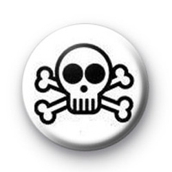 White Skull Badges