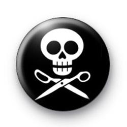 Black and White Skull Badges