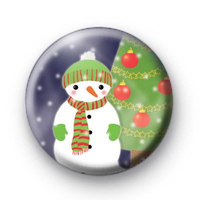 Snowman and Christmas Tree Badge