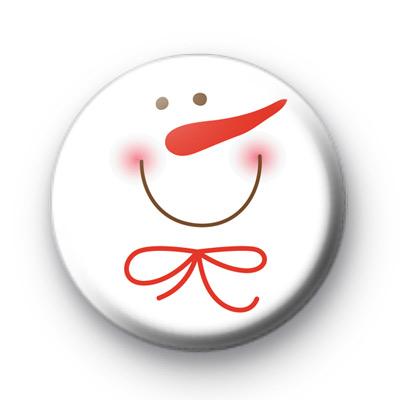 Snowy Snowman Face Badge