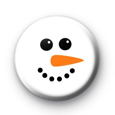 Snowman Face Button Badges
